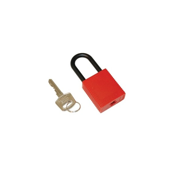 Candado de seguridad brady nylon color rojo pack 6 for Candados de seguridad