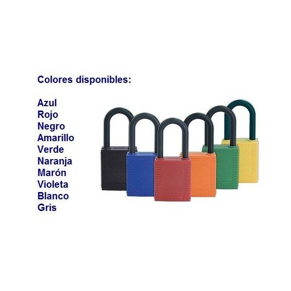 Candado de seguridad brady nylon color verde pack 6 for Candados de seguridad