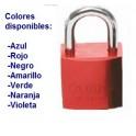 """CANDADO DE SEGURIDAD BRADY """"ALUMINIO"""" 25 mm color AZUL c/6 unidades KD"""