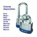 CANDADO EN ACERO LAMINADO BRADY, color AMARILLO, 38 mm, pack de 6 unidades