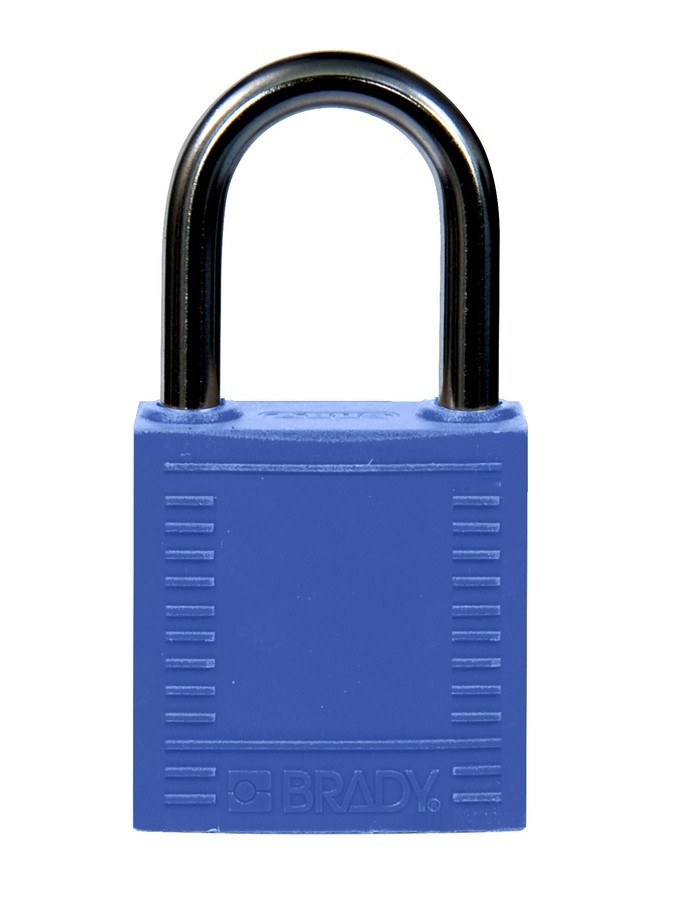 Candado de seguridad brady compact color azul 25 mm for Candados de seguridad